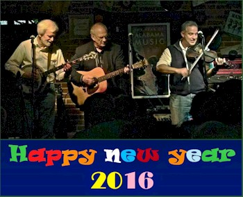 "Three on a String presents  Happy ""Jerry-atric"" New Year!"