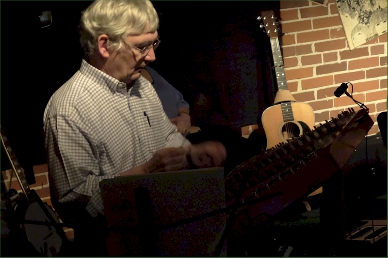 Rob Angus with hammered Dulcimer