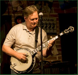 "Dan Lakeman (AKA the ""banjo man"") picking a mean banjo."